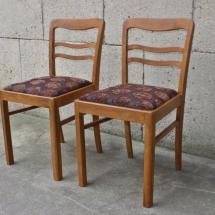 Holzstühle aus den 50er Jahren. Holzstühle aus den 50er Jahren renovieren mit Sitzpolster.