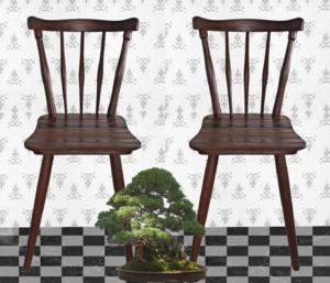 alte Holzstühle für Esszimmer
