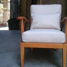 50er Sessel mit Wollstoff